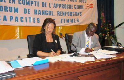 CENTRAFRIQUE: S'OUVRIR POUR RECEVOIR