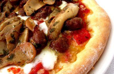 Pizza funghi porcini & salsiccia...