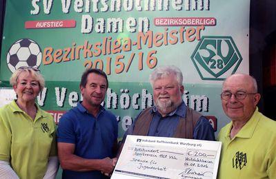11. Sommerfest der Eigenheimer ließ keine Wünsche offen - 200-Euro-Spende für die Jugendarbeit des SVV