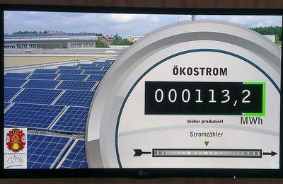 Klimaschutz Veitshöchheim: Display im Foyer offenbart nun aktuelle Erträge der Photovoltaikanlage der Mainfrankensäle