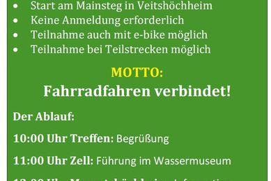 Stadtradeln Veitshöchheim 2017 - Grünen-Kapitän lädt zur informativen Radtour am 2. Juli ein