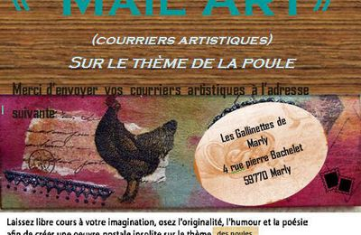 "Relais : Appel à mail art ""Poule"" des Gallinettes de Marly"