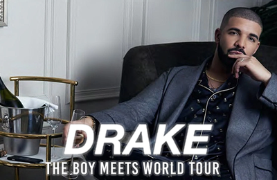 "Concert - DRAKE à Paris - Tournée ""Boy Meets World Tour"" à l'AccorHotels Arena Paris en Mars 2017"