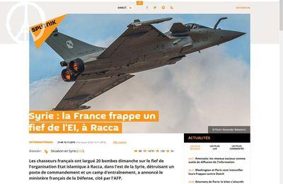 Syrie : la France frappe un fief de l'EI, à Racca