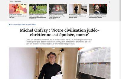 """Michel Onfray : """"Notre civilisation judéo-chrétienne est épuisée, morte"""""""