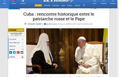 Rencontre historique entre le Patriarche de Moscou et le Pape de Rome