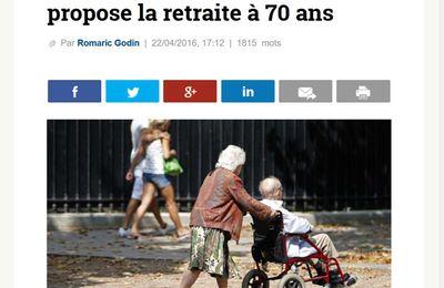 Allemagne : Wolfgang Schäuble propose la retraite à 70 ans