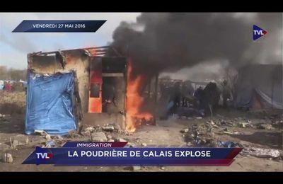 La jungle de Calais à feu et à sang