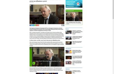 Hillary Clinton a fourni des armes aux djihadistes syriens (Julian Assange)