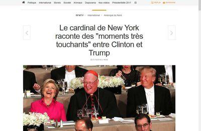 Trump blague avec Clinton