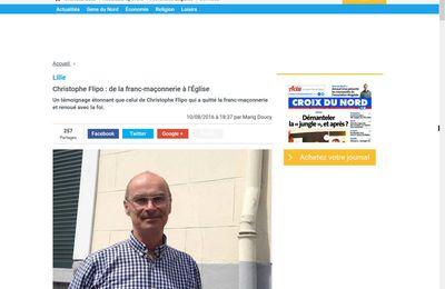 Christophe Flipo : de la franc-maçonnerie à l'Église