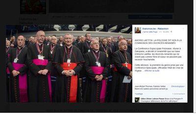 """""""Amoris laetitia"""" : la Pologne dit non à la communion des divorcés-remariés"""