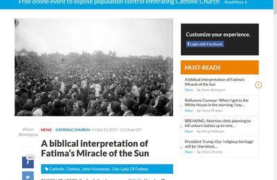 Une interprétation biblique du Miracle du Soleil de Fatima