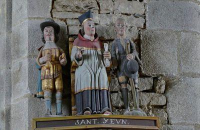 L'église  Notre-Dame de Brennilis. Sa statuaire.