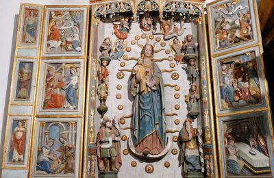 La chapelle Notre-Dame-de-Berven en Plouzévédé. I. L'Arbre de Jessé du retable de l'autel nord.