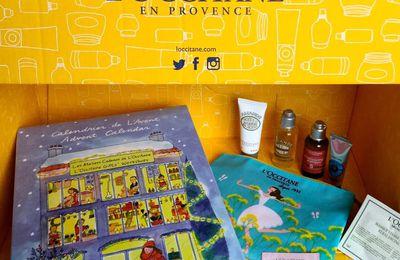 Mon Calendrier de l'Avent l'Occitane !+ Bon plan 9% du prix remboursé par iGraal + trousse avec 4 miniatures