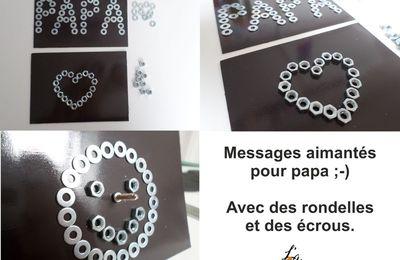 Message aimanté pour la fête des papas