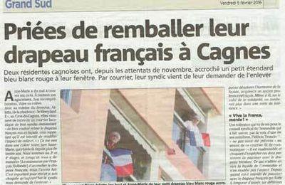 3464 - Brèves du jour zappées par la télé et nouvelles de la caste d'en haut (l'oligarchie). Le drapeau français interdit à Cagnes. 100 impôts de plus depuis 2012. Les prélèvements obligatoires atteignent 50%. La Turquie fait la guerre sans mandat et aide les islamistes de Syrie !!!