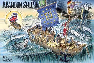 3625 - Brexit, l'image du jour : le naufrage dans tous les cas.