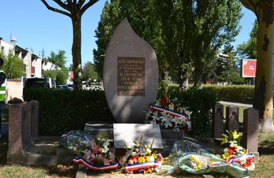 Valence, Journée Nationale à la  Mémoire des Victimes des crimes racistes et antisémites de l'Etat Français et d'Hommage aux ''Justes'' de France. juillet 2017