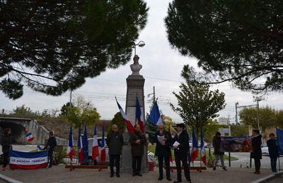 Bourg-lès-Valence, le Souvenir Français Journée Mémoire avec la nouvelle génération des écoles élémentaires. novembre 2017