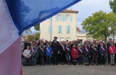 Souvenir Français, Cérémonies dans le cadre de la Commémoration de l'Armistice du 11 novembre 1918 et l'Hommage rendu à tous les 'Morts pour la France', à Bourg-lès-Valence et à Valence. novembre 2017