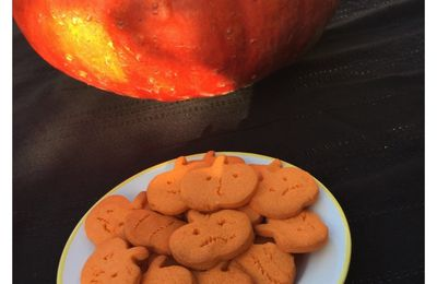 Biscuits citrouille d'Halloween