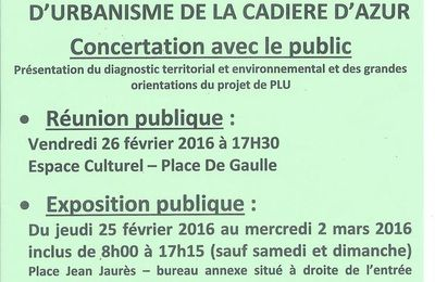 ÉLABORATION DU PLAN LOCAL D'URBANISME