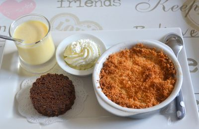 Cake chocolat et sa crème anglaise à la vanille de tahiti