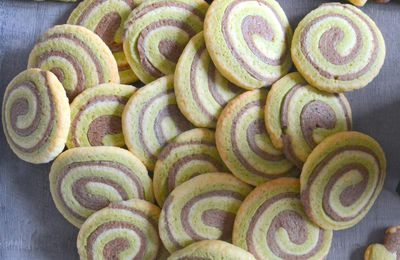 Biscuits spirale trois couleurs