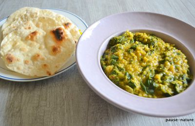 Daal Palak et chapati