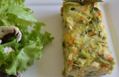 Flan de courgette, carotte et herbes fraîches