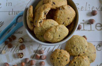 Cookies noisettes-chocolat