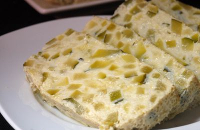 Terrine de courgettes au Roquefort