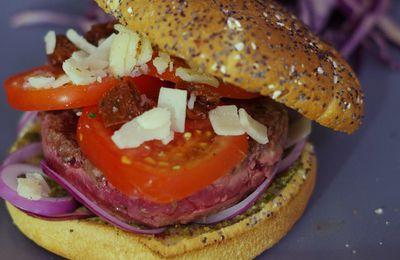 Burger Charal maison aux saveurs d'Italie
