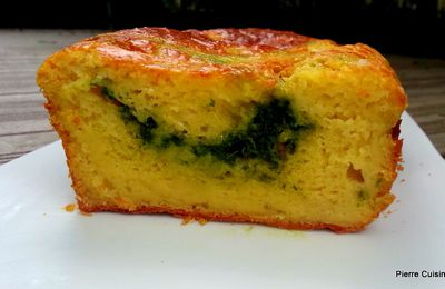 Cake pesto ail des ours