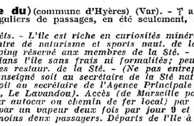 Dans le guide du Touring Club de France en 1938