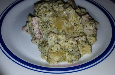 Brocolis, pommes de terre et cheddar