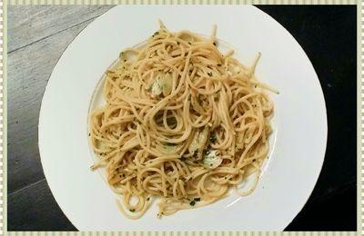 Spaghettis à l'ail