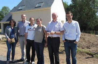 Le quartier a enfin sa première maison Ingrandes - 25 Juin dans Ouest France