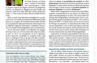 """Attaque LINKY (#8) - numéro 7 de la revue """"Révélations Santé & Bien-être"""" (avril 2017)."""