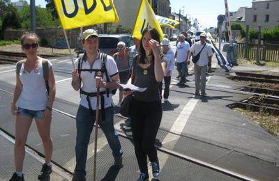 Marche pour la rénovation de la ligne Brest / Quimper