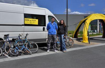 Les dons de vélos en deux étapes