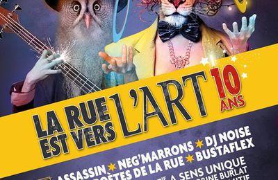 Le programme complet du festival La Rue Est vers l'Art 2017 (REVA)