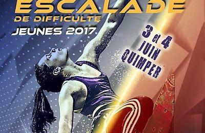 Championnat de France espoirs d'escalade de difficulté à la Halle des sports de Penhars