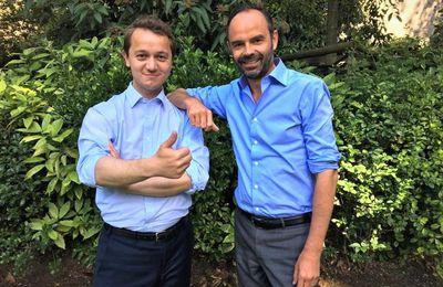 Jeu trouble du candidat Maël de Calan (LR) avec le premier ministre Edouard Philippe