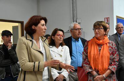Nathalie Sarrabezolles en visite au collège Max-Jacob
