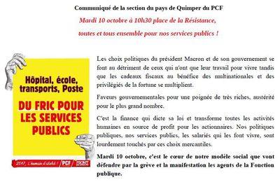 Appel du PCF à la manifestation de demain (communiqué)