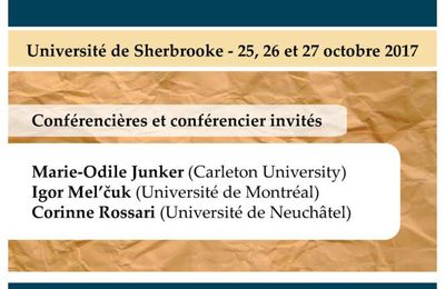 Colloque international - Représentations du sens linguistique VII - 25-27 octobre 2017
