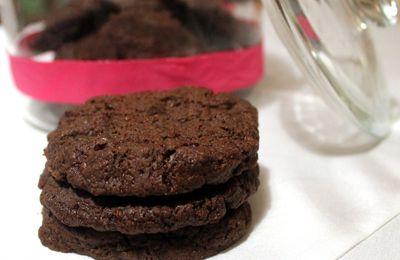 Sablés chocolat-fleur de sel de Pierre Hermé en version végétalienne